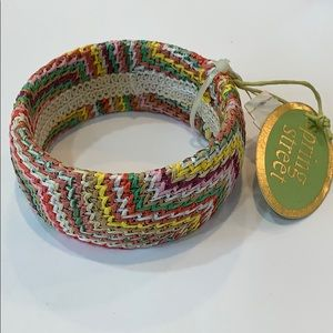 💐5/25 Wide bangle spring colors crocheted